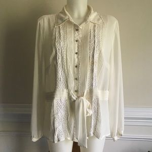Lane Bryant button up blouse